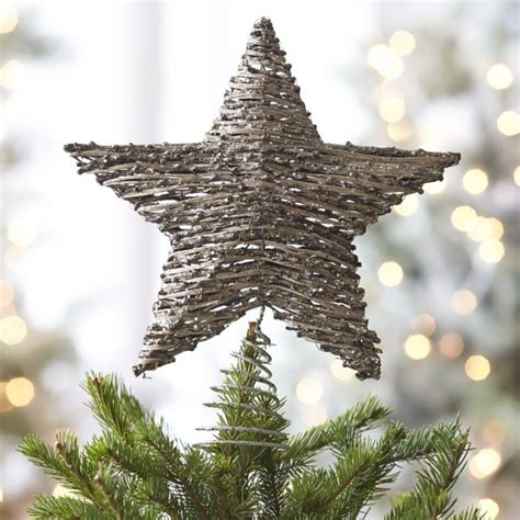 rattan star tree topper star tree topper tree toppers