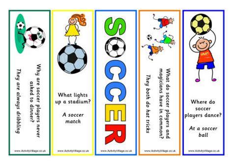 printable bookmarks soccer soccer jokes bookmarks