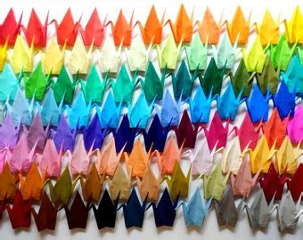 How Big Is Origami Paper In Inches - 45 large origami cranes origami paper cranes made of 15cm