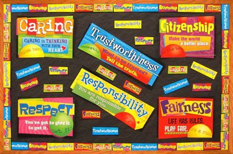 themes for moral education character education bulletin board classroomdecorations