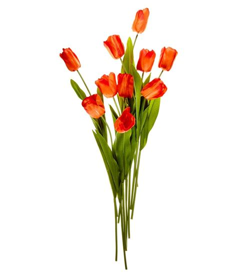 Set Flower fourwalls orange tulip artificial flower set of 10 buy
