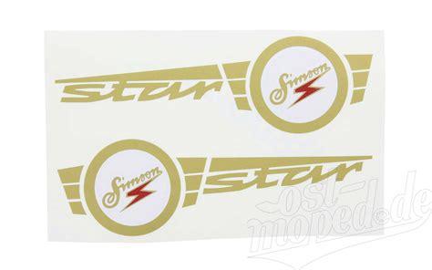 Aufkleber Moped Star simson star sr4 2 set aufkleber klebefolie