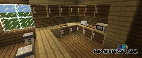 minecraft furniture kitchen minecraft pocket edition build tutorials episode 2 kitchen