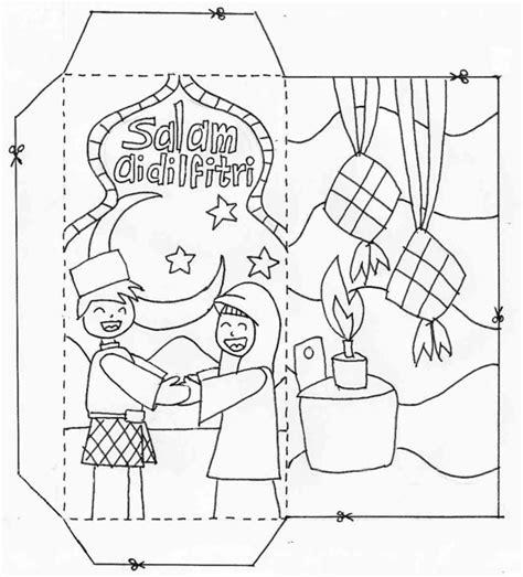 hari raya aidilfitri kad colouring pages page 2 lembaran kerja prasekolah tabika perpaduan batu 4