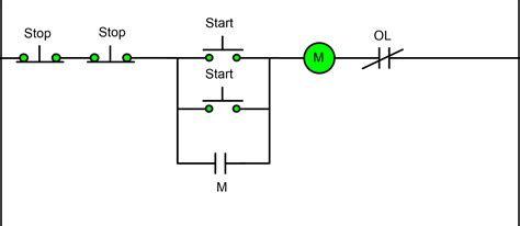3 wire stop start wiring diagram agnitum me two wire three wire motor circuit motor circuit diagram electrical a2z