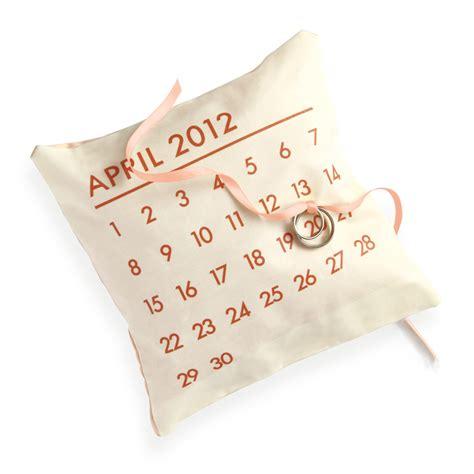 Calendar Rings Calendar Ring Pillow Martha Stewart Weddings