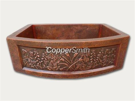 coppersmith decorative farmhouse copper sink buy copper kitchen farmhouse sink product on