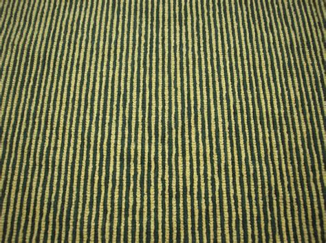 green yellow striped corduroy upholstery fabric sold