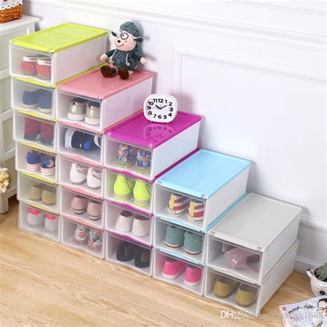 diy from shoe boxes 2018 empty shoebox plastic transparent shoes storage box