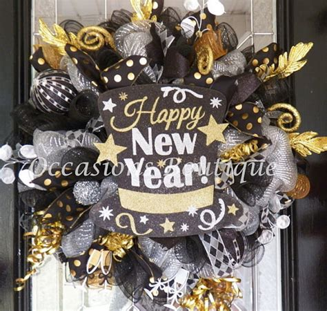 new year home decoration ideas new year s wreath new year s decoration
