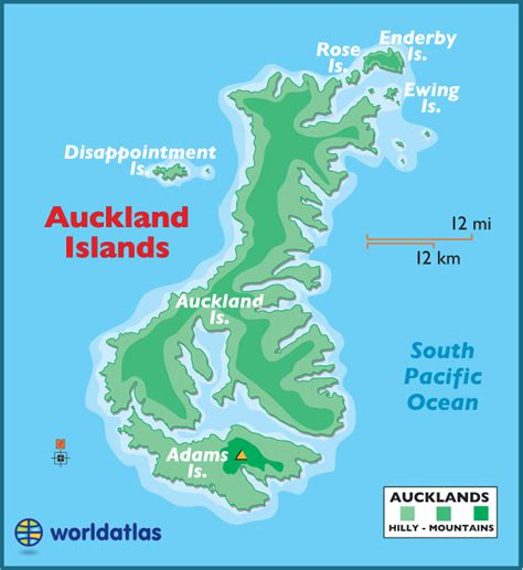 map world auckland auckland islands large color map