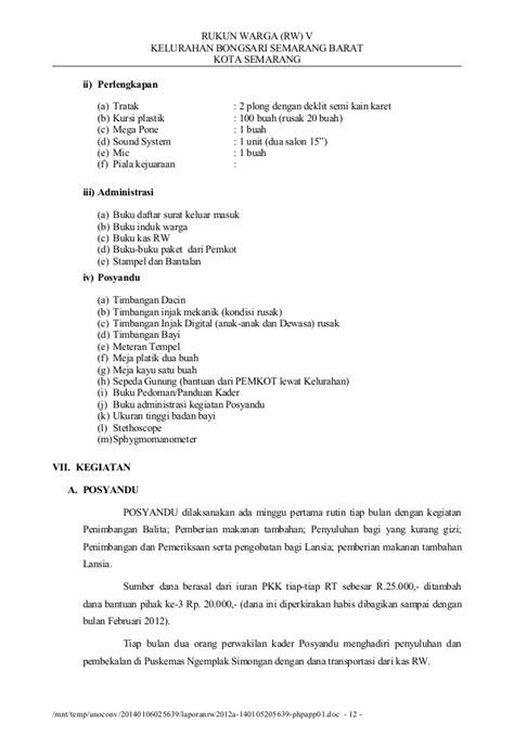 Timbangan Injak Dewasa laporan rw 2012a