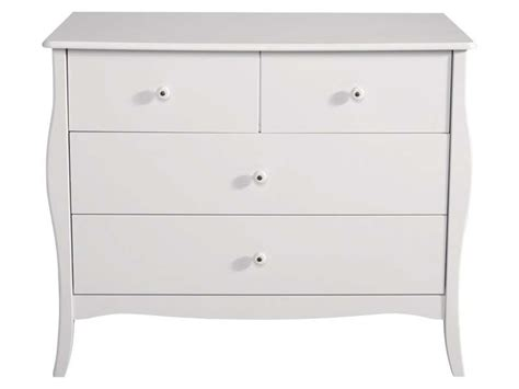 Conforama Commode Blanche by Commode 4 Tiroirs Celestine Coloris Blanc Vente De
