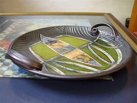 Handmade Tray Decoration - ceramics and pottery serving tray wall hanging plate