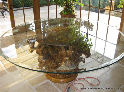 How To Get Scratches Out Of Glass Table by Scratched Glass Glass Table Resurfacing Newport