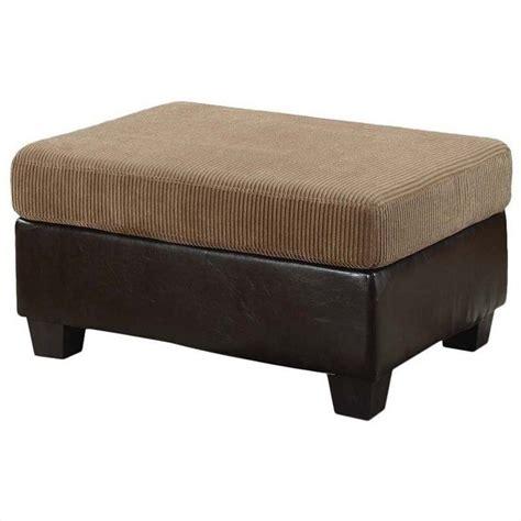 espresso ottoman acme furniture connell ottoman in light brown and espresso