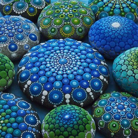 mandala stones portfolio page colourful artistry