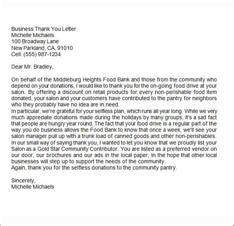 Closing Thank You Letter After 6 Business Thank You Letters