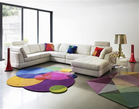 modern colorful furniture modern living room design with light bright colors