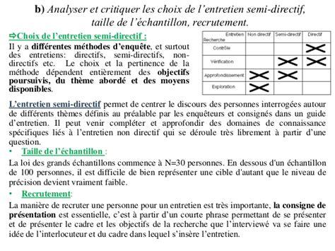 Grille D Entretien Semi Directif Exemple by Marketing Etude Qualitative