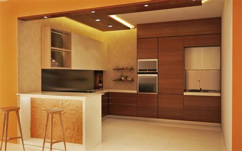 Modular Kitchen Countertops by Counter Talk Modular Kitchen With A Breakfast Bar Homelane