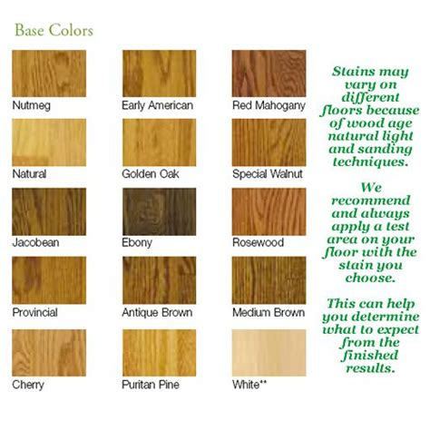 Oak Floor Stain Color Chart by Oak Wood Floor Stain Colors Search Flooring