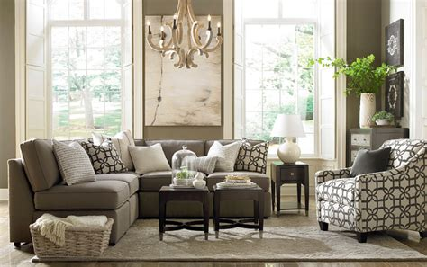 bassett living room furniture beckie l shaped sectional by bassett furniture