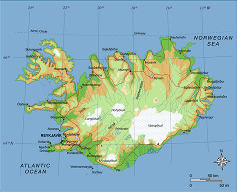 map iceland maps of iceland detailed map of iceland in