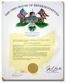 ohio house of representatives ohio house of representatives honors buckeye firearms association with proclamation