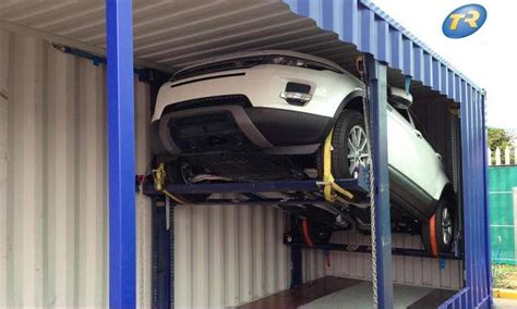Rak Container clever car racking and intelligent software number of cars in shipping containers