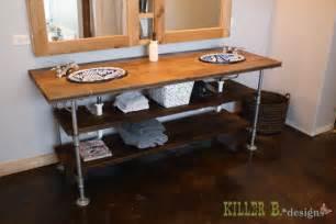 Vanity Piping Reclaimed Wood Industrial Vanity Killer B Designs