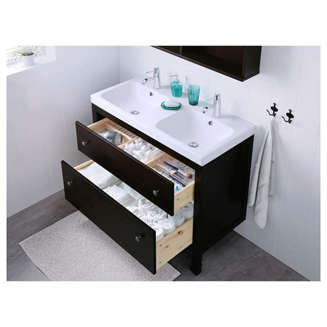 Wash Stand With Drawers by Odensvik Hemnes Wash Stand With 2 Drawers Black Brown
