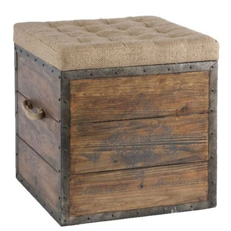 article home decor aidan gray article no 54 wooden storage cube vintage