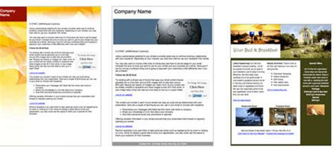 vertical response templates verticalresponse bb enewsletter template gallery website