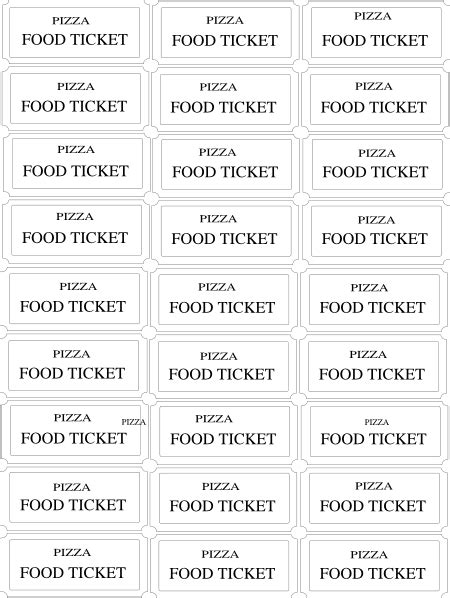 Lunch Ticket Template by Meal Ticket Template Beneficialholdings Info