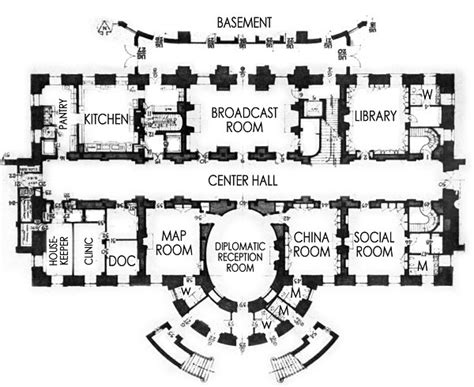 The White House Floor Plan by Ground Floor White House Museum