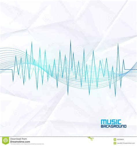 sound wave on paper background abstract equalizer stock