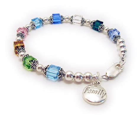 family birthstone bracelets bracelet gifts