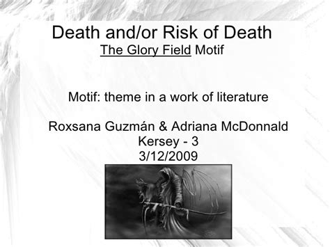 literature themes about death death and or risk of death