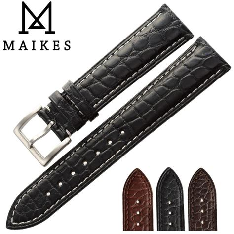 Gesper Rel Crocodille Leather Quality maikes top quality new genuine alligator 14mm 24mm size crocodile leather band