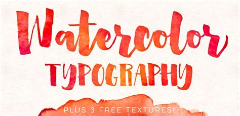 watercolor typography tutorial how to add watercolor textures to typography