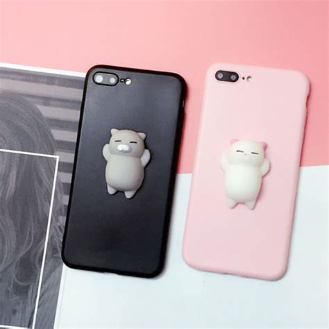 Terbaru Casing Cat Squishy Casing For Samsung Galaxy S7 squishy 3d anti stress lazy cat soft phone cover for samsung apple ebay