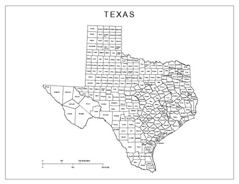 map of the counties of texas texas labeled map