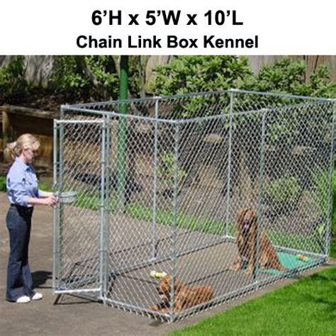 5x10 kennel chion box kennel 6 h x 5 w x 10 l chain link kennel spots