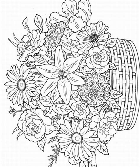 coloring book for adults flowers free coloring pages of color by number