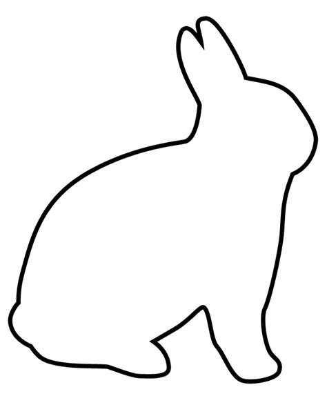 easter rabbit template free easter bunny clip coloring pages clipart best