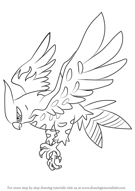 pokemon coloring pages talonflame learn how to draw talonflame from pokemon pokemon step