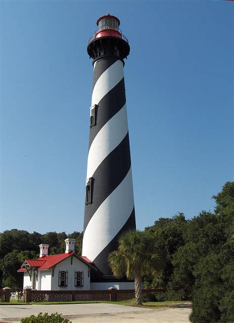 St Augustine Light House by St Augustine Lighthouse Photograph By Carol A Commins