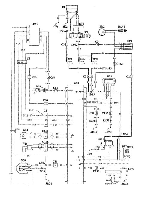 Volvo 940 (1995) - wiring diagrams - ignition