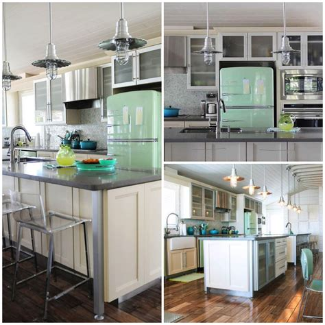 mint green kitchen appliances inspired center island counters for your kitchen